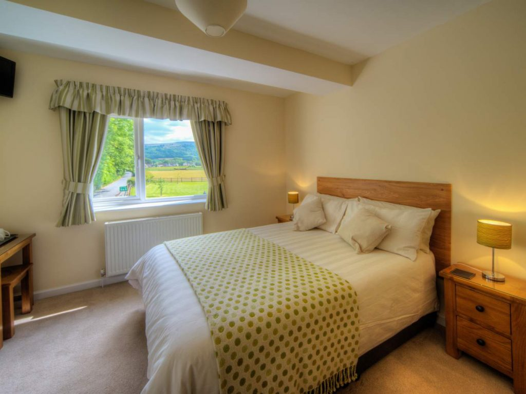 Bedrooms at the Lodge Brecon